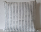 Nate Berkus geometric stripe ebony black white decorative designer pillow cover