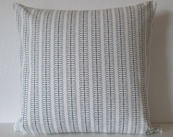Nate Berkus Cole Stripe Paramount Ebony geometric stripes designer pillow cover