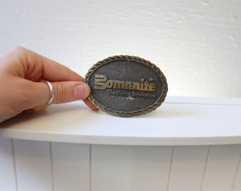 Vintage Bomanite The Paving Innovators Belt Buckle