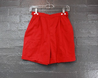 Vintage 80s Red Shorts By TanJay