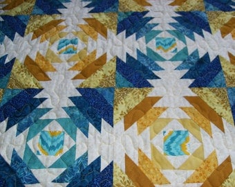 Pineapple Pattern Queen Size Quilt