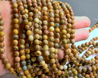 Venus Jasper - 6 mm round beads -1 full strand - 64 beads - A quality - RFG330