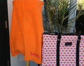 Monogrammed Spa Wrap from The Palm Gifts