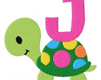 Polka Dot Turtle Machine Embroidery Monogram Font Set  Joyful Stitches // Joyful Stitches