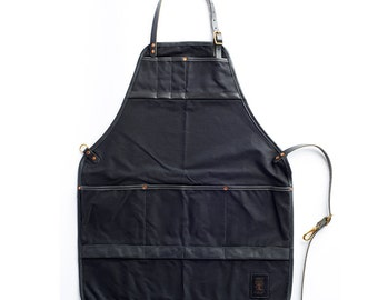 The Craftsman's Apron - Black On Black