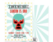 Luchadore - Lucha Libre Printable Party Invitation - Petite Party Studio