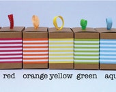 Striped Paper Ribbon in Color of Your Choice