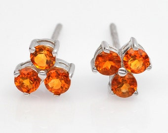 Handmade Natural Gemstone Jewelry, Genuine Yellow Citrine Sterling Silver Earring FD5A19  ER-CIT030
