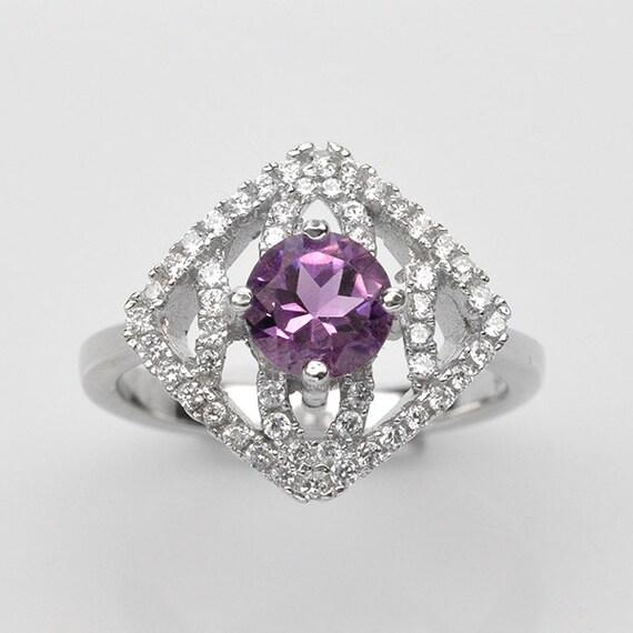 Handmade natural gemstone jewelry genuine purple amethyst sterling