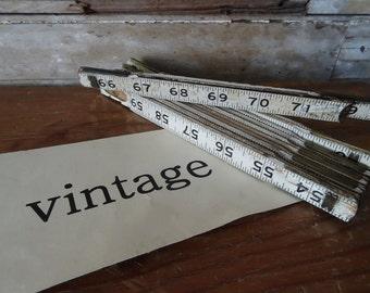 Vintage Wooden Ruler Retractable