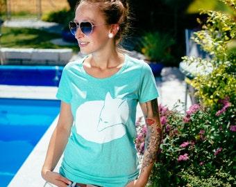 Fox Women Organic T-Shirt _ turquoise