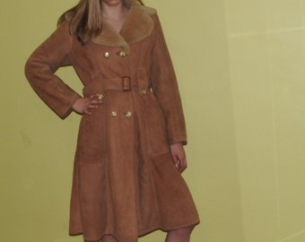 vintage 60s 70s sheepskin princess coat WARM size S/M