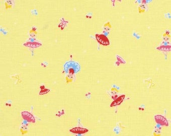 SALE Ballerinas on yellow from the Minny Muu 2015 collection by Lecien