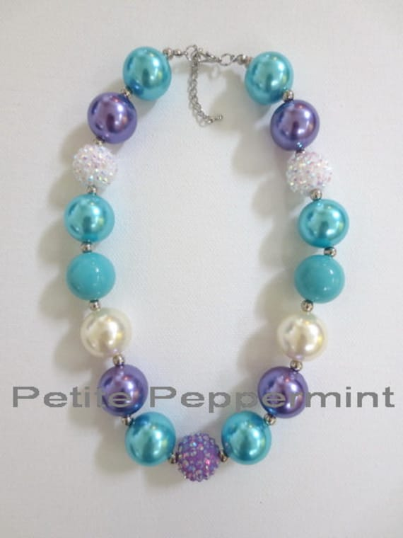baby chunky necklace chunky bead necklace toddler