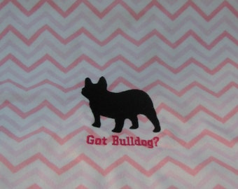 Pillow Fabric Embroidered French Bulldog Ready to Sew