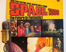 """ON SALE Space 1999 Vinyl Record Album LP Vintage 1970s Science Fiction Martin Landau Sci Fi Space Adventure Story """"Space:1999"""" (1976 Power R"""