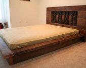 custom listing for ashley, a king size modern quarter bed