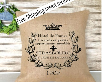 French Farmhouse Decor | Throw Pillow | French Country | Insert Included | French Provincial | Cottage Decor