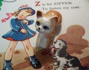 bone china kitty figurine