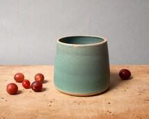 green vase danish vessel for flowers unique keramik ceramics handmade by eeliethel scandinavian studio pottery decor poterie ceramic