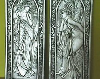 Art nouveau/art deco style wall plaques, wall hangings