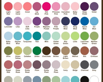 Fabric Color Guide -  Color Chart Swatches - Free Shipping