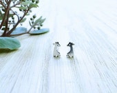 Tiny Silver Giraffe Earrings, Sterling Silver Children's Jewelry, Animal Jewelry, safari Jewelry, nature studs, for girl