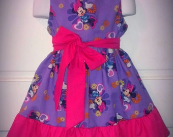 Sleeveless Summer Dress Disney Minnie Mouse Boutique 12/18M 24M/2T 3T/4T 5/6 Pageant New