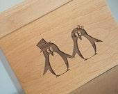 Recipe Box - Pair of Penguins