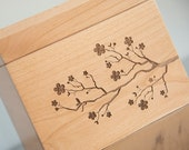 Personalized Recipe Box - Cherry Blossoms