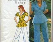 Vintage Unlined Jacket and Pants Sewing Pattern - Simplicity 5630 - Size 8