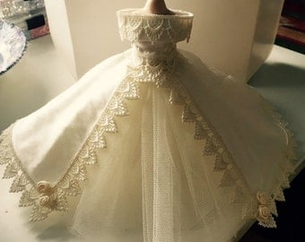 1-12th Scale miniature wedding dress.