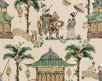 MOUGIN CYPRESS home decor chinoserie print multipurpose fabric