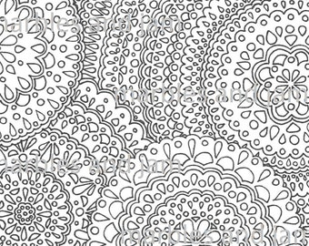 overlapping mandala printable adulte coloring page - Coloring Pages Mandalas Printable
