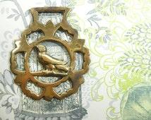 Horse Brass Medallion with Bird