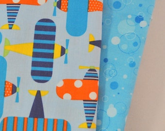Ready Set Go 2 Fat Quarters Bundle for Robert Kaufman, 1/2 yard total