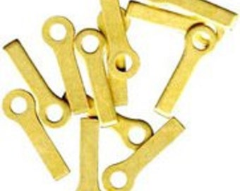 Brass Handy Hangers Pack of 12 for Stained Glass
