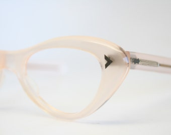 Pink vintage cat eye glasses cat eye frames New Old Stock