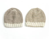 Reversible Hand Knit Unisex Beanie