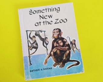 Something New At the Zoo 1957 Vintage Children's Book