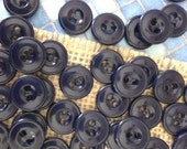 50 Navy Blue Buttons Blue Buttons Dark Blue Buttons Bulk Blue Buttons Craft Buttons Sewing Buttons valstreasures destash fasteners