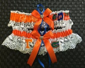 University of Tennessee and Florida Gators wedding garter set.