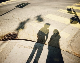 Dolores Street - San Francisco, Shadow Photography, Fine Art Print, Shadows, People, Portrait