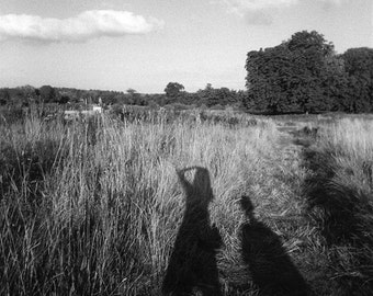 Black and White Photography, Shadows, England - First Edition Lomo Art Photo - print landscape black and white photography england