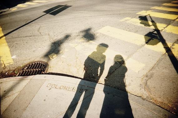 Dolores Street - San Francisco, Shadow Photography, Fine Art Print, Shadows, People, Portrait