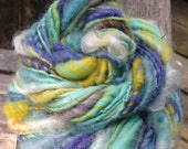 handspun Art Yarn - Blue To Aqua