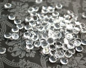 6mm Clear Glass Cabochons Transparent Jewelry or Sculpture Making Bezels