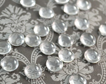 10mm Clear Glass Cabochons Transparent Jewelry or Sculpture Bezels - Make Your Own Glass Eye Cabochon Pendants