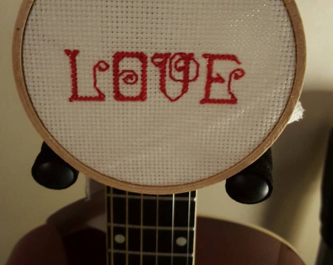 Love cross stitch wall art ornament