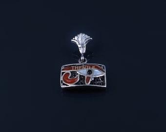 Egyptian Solid Silver Inlaid Filigree Eye Of Horus Christmas Gift